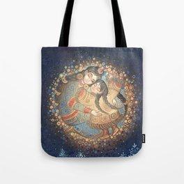 girl the Moon Tote Bag