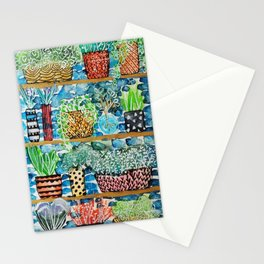 Pots and flowers collection Stationery Cards