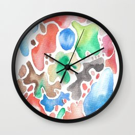 170623 Colour Shapes Watercolor 2 Wall Clock