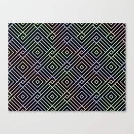 Modern Holographic Symmetric Pattern Canvas Print