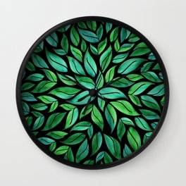 Night Leaves Wall Clock