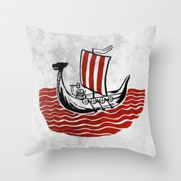 Lone Viking Throw Pillow