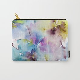 Blue abstract pattern. Abstract flowers. Carry-All Pouch