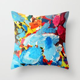 Painters' Splatter Throw Pillow