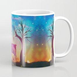 Girl meeting magical forest animals Coffee Mug