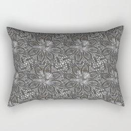 Needle point...black whitee Rectangular Pillow