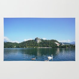 Swans in Bled Rug