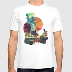 ABRACADABRA White X-LARGE Mens Fitted Tee