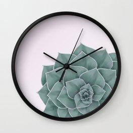 Big Green Echeveria Design Wall Clock