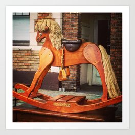 Vintage Rocking Horse in Seattle Art Print