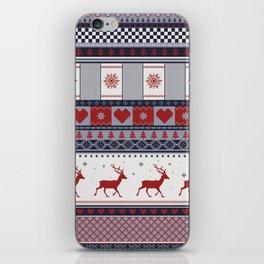 Scandinavian Christmas Pattern iPhone Skin