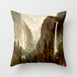 Bridal Veil Falls, Yosemite Valley 1892 Throw Pillow
