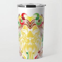 Lion Zion Religion Rastafarian Dreadlocks Marijuana design Travel Mug