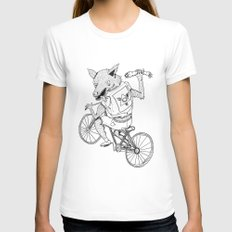 Wolfbrother White MEDIUM Womens Fitted Tee