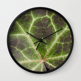 Leaf Lightning. Nature Photography Wall Clock