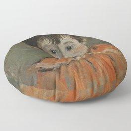Claude Monet - Michel Monet with a Pompon.jpg Floor Pillow