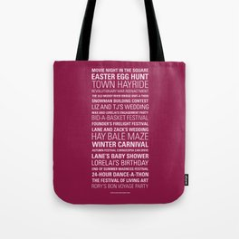 Stars Hollow Town Square Events Tote Bag