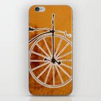 bike iPhone & iPod Skins featuring Bike by CrismanArt