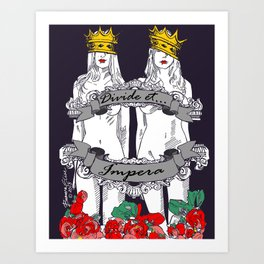 Divide and Conquer Navy Art Print