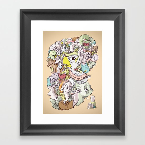 Thinking Too Much Framed Art Print