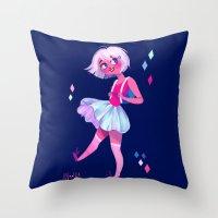 bubblegum Throw Pillows featuring Bubblegum by Anoosha Syed
