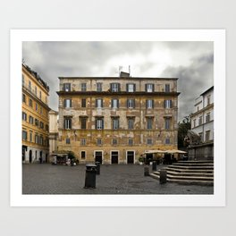 Untitled (Piazza Santa Maria in Trastevere) Art Print