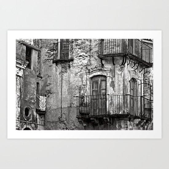 SICILIAN MEDIEVAL FACADE Art Print