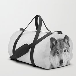 Wolf 2 - Black & White Duffle Bag