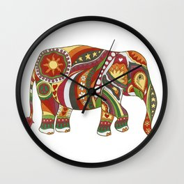 Vintage Psychedelic Elephant Wall Clock