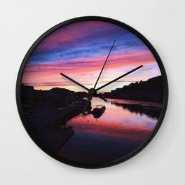 European Pink Sunset Wall Clock