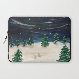 Christmas Snowy Winter Landscape Laptop Sleeve