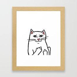 Naughty Cat Framed Art Print