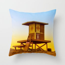 lifeguard tower Throw Pillow