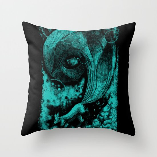 9 tails Throw Pillow