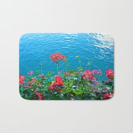 Chapel Bridge Flowers Bath Mat