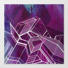 Geo Tactic 2, Violet Canvas Print