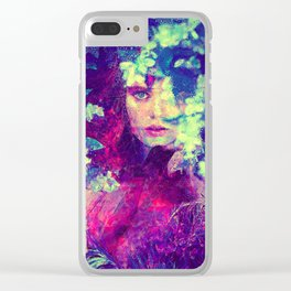 Flower Girl Clear iPhone Case