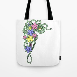 Abstract flowers corner Tote Bag