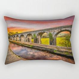 Chirk Aqueduct Sunset Rectangular Pillow