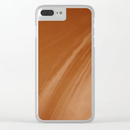 Blurred Sepia Wave Trajectory Clear iPhone Case