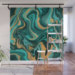 Digital Paint Pour Wall Mural