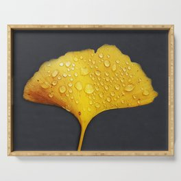 ginkgo biloba leaf Serving Tray