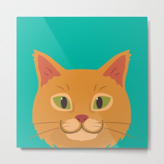 Peeking Cat Metal Print