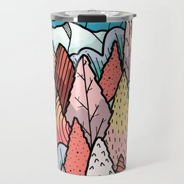 The hill behind a forest Travel Mug