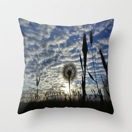 Dandilion Sunrise  Throw Pillow