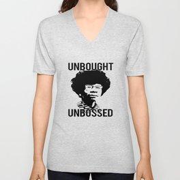 UNBOUGHT UNBOSSED Shirley Chisholm T-Shirt Unisex V-Neck