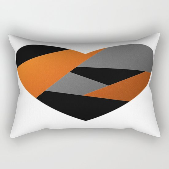 Metal Heart Rectangular Pillow