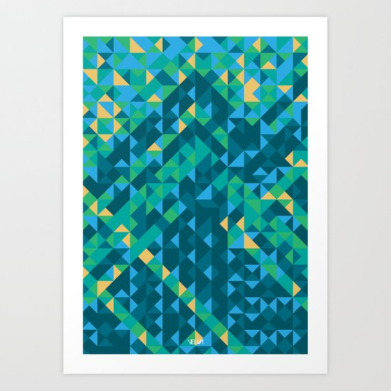Mosaico Art Print