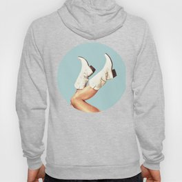 These Boots - Blue Hoody