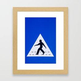 Omani pedestrian crossing sign Framed Art Print